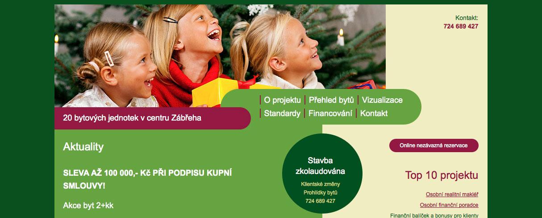 Byty Zábřeh - webová prezentace - redakční systém Drupal