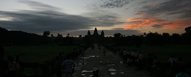 Východ slunce nad Angkor Wat, Angkor, Kambodža