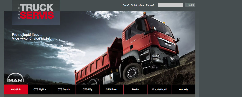 Czech Truck Servis - redakční systém Drupal