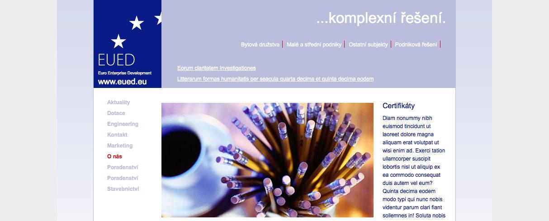 Šablona stránek Euro Enterprise Development v Drupalu