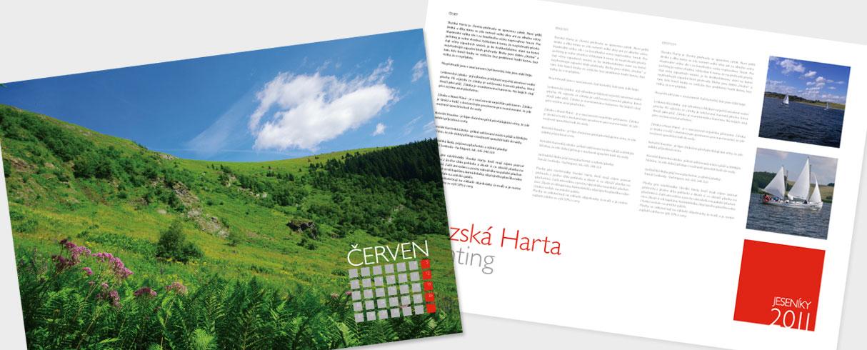 Návrh tentokrát turistického kalendáře Jeseníky 2011