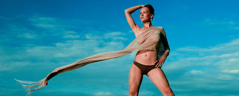 Zuzana in the wind of Kanawa Island, Indonesia