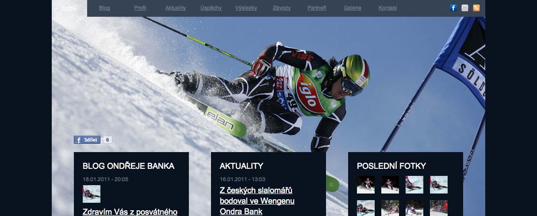 Ondřej Bank - webové stránky v Drupalu