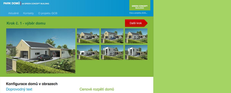 Park domů - redakční systém - konfigurátor v Drupalu