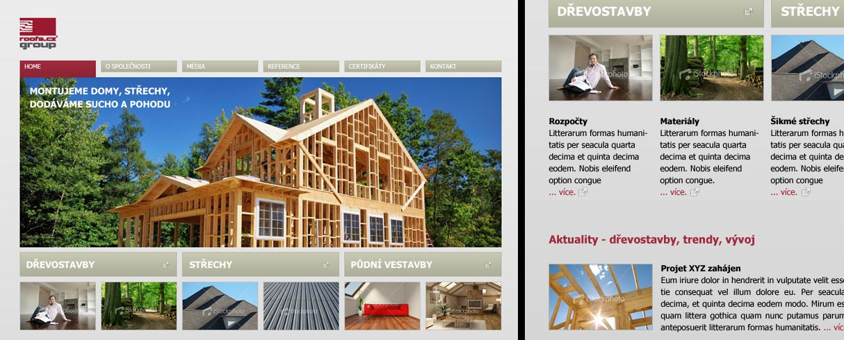 Redesign webu ROOFS Group a.s.