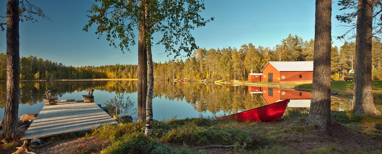 Molo u jezera Tallträsket - Švédsko