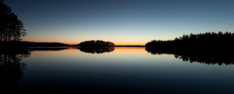 Západ slunce Tallträsket - Švédsko