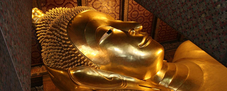 Největší ležící zlatý Buddha, chrám Wat Pho, Bangkok, Thajsko