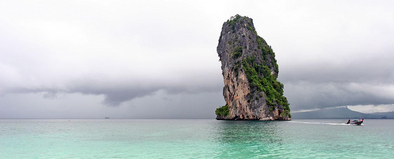 Záliv Phang Nga v jižním Thajsku
