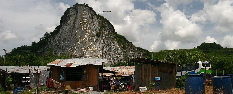 Největší rytina Buddhy na světě, Khao Chee Chan Buddha, Patatya, Thajsko