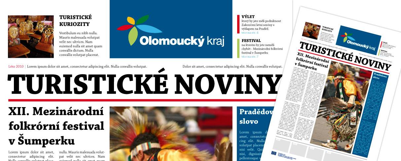 N8vrh layoutu turistických novin Olomouckého kraje