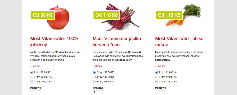 Vitaminátor - ovocný mošt eShop