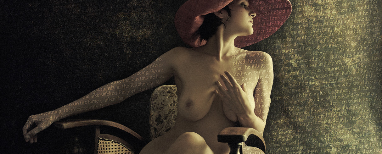 Zuzana wearing a pink hat